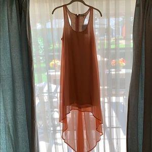 Stunning high-low peach dress